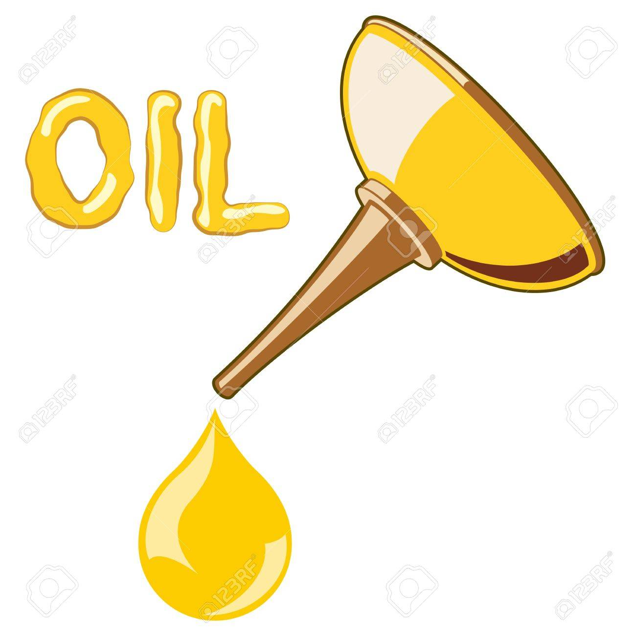 Oil Lubricator with oil. no mash no gradient Stock Vector - 29300893