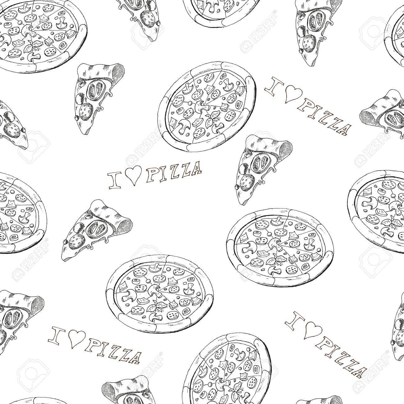 Pizza seamless Stock Vector - 32648760