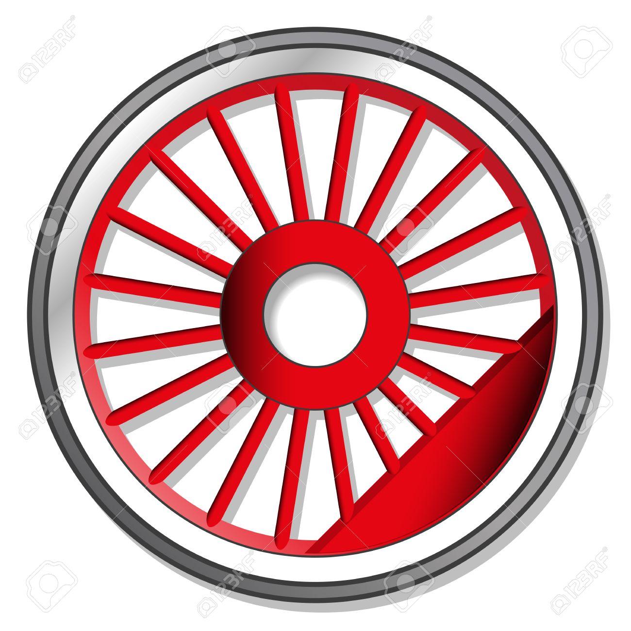wheel of steam locomotive Stock Vector - 36964473