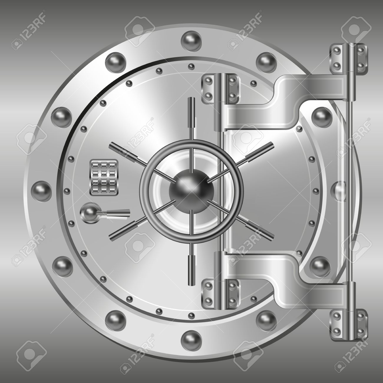 Bank vault door Stock Vector - 37405722
