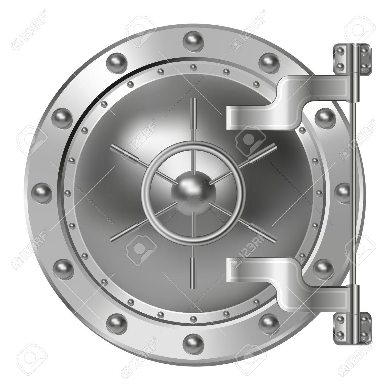 bank vault door stock vector