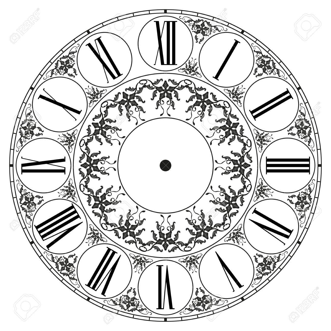 Vector clock on white . Illustration clip art Stock Vector - 37576763