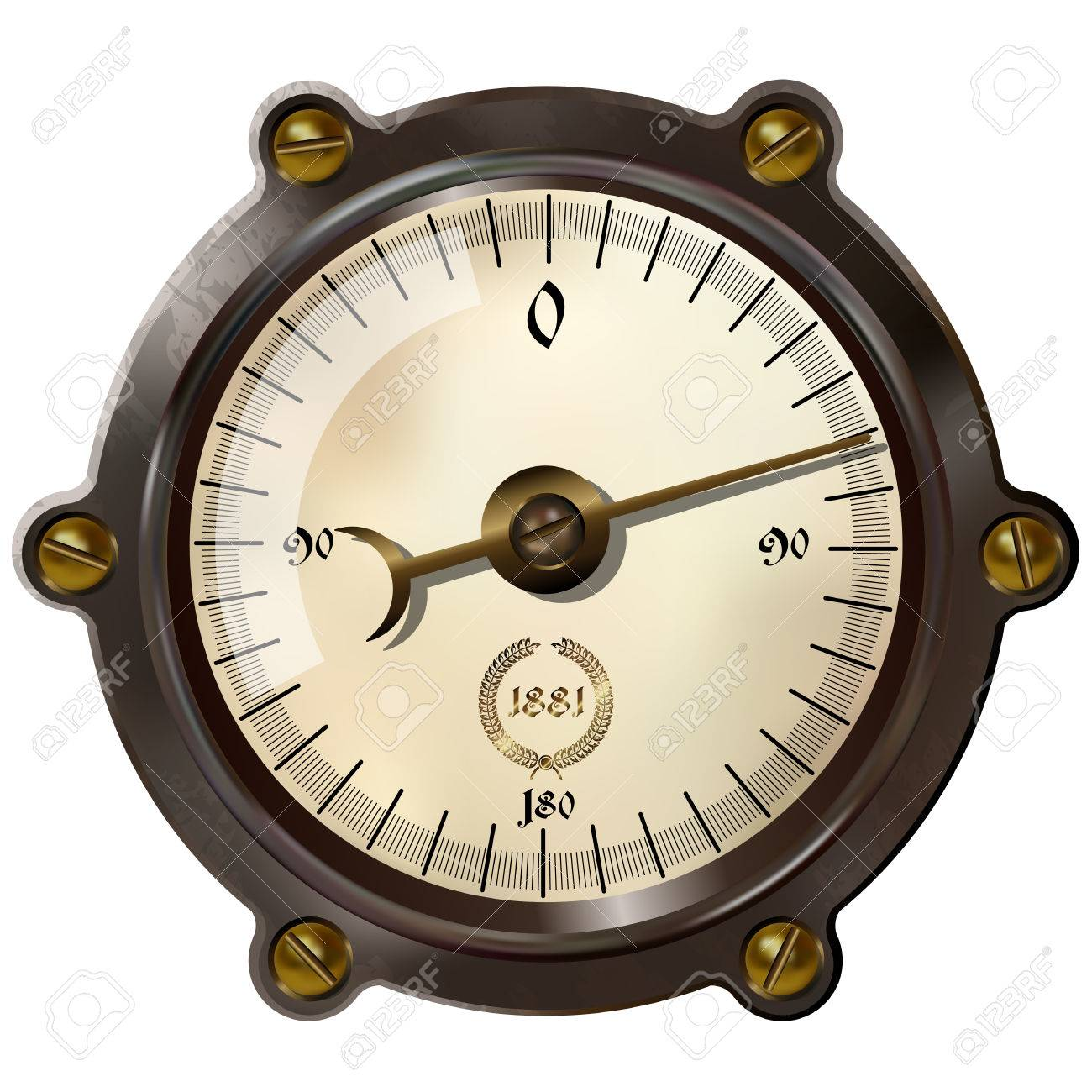 Ancient measuring device in the style of steampunk Stock Vector - 37576812