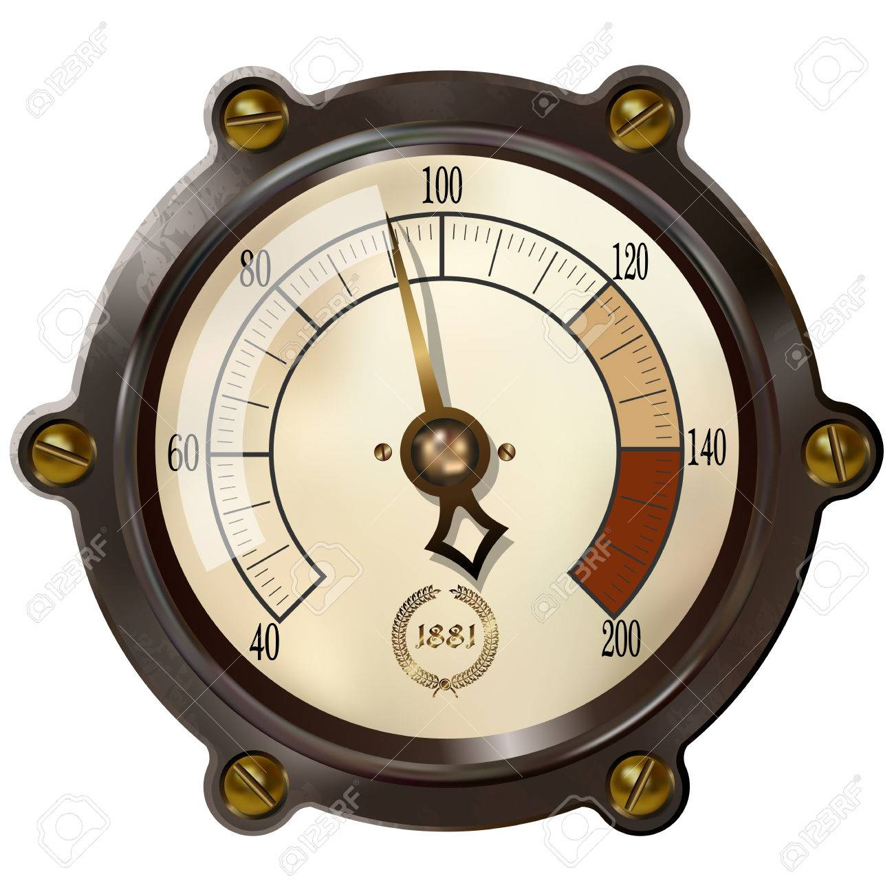 Ancient measuring device in the style of steampunk Stock Vector - 37576818
