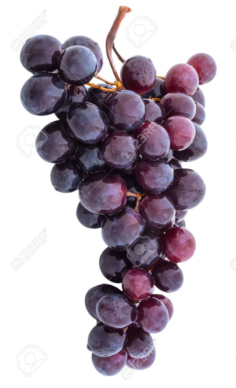 grapes without a shadow isolated on white background Stock Photo - 44205820