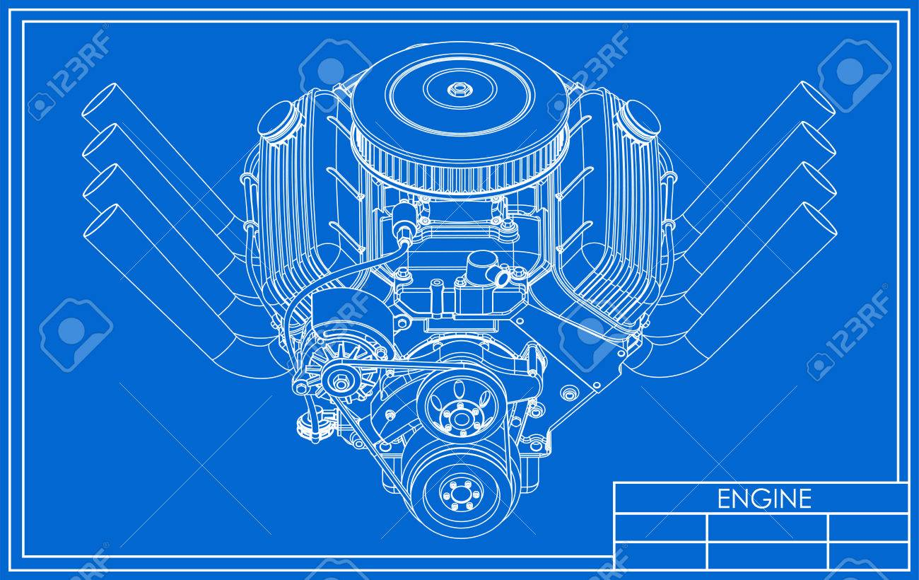 Hot rod V8 Engine drawing on a blue background V Engine Diagram on v6 engine diagram, engine head diagram, 5.3l engine diagram, 1.6 liter engine diagram, cylinder engine diagram, ford engine diagram, v-6 engine diagram, water engine diagram, amc 360 engine diagram, car engine diagram, automatic transmission engine diagram, diesel engine diagram, 5.8 liter engine diagram, i-6 engine diagram, f-1 engine diagram, 8.1 liter engine diagram, 3.6 liter engine diagram, hemi engine diagram,