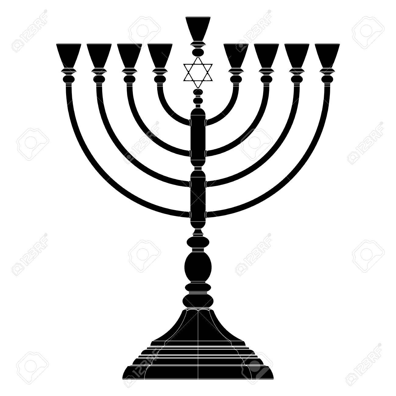 Menorah Hanukkah Lamp Which Is Lit During The Eight Days Of ...