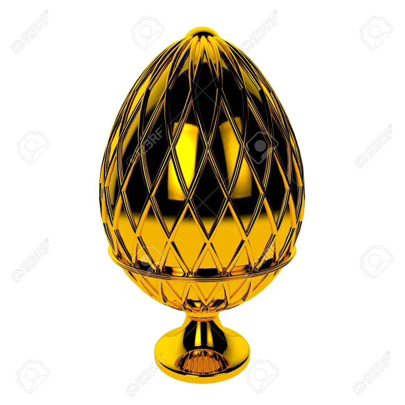 Jewelry egg. 3D render. Stock Photo - 75878313