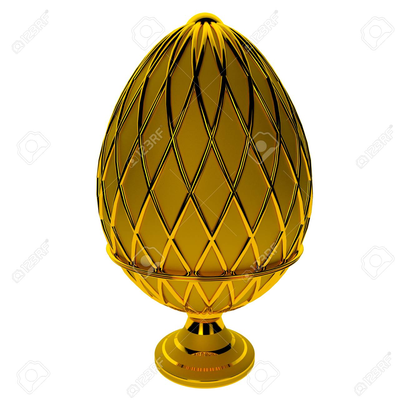 Jewelry egg. 3D render. Stock Photo - 76054663