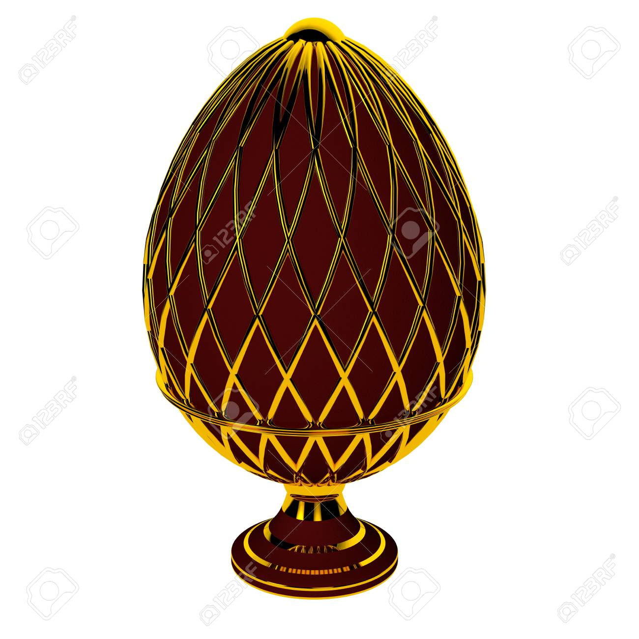 Jewelry egg. 3D render. Stock Photo - 75878314