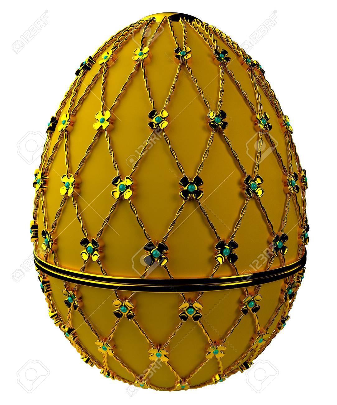 Jewelry egg. 3D render. Stock Photo - 75860166