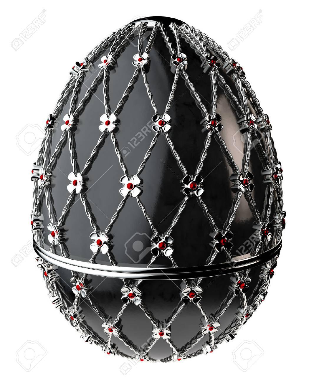 Jewelry egg. 3D render. Stock Photo - 75878315