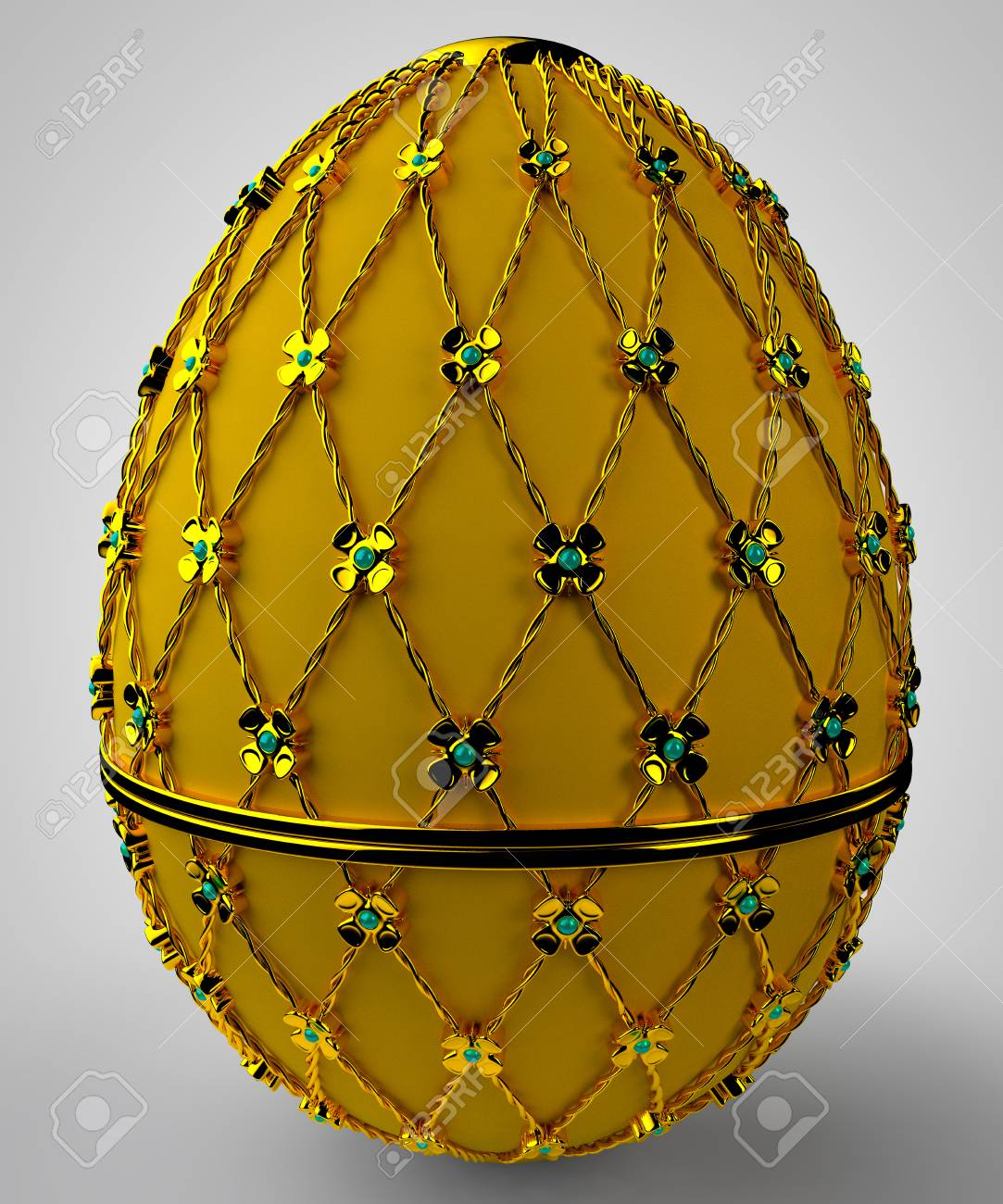 Jewelry egg. 3D render. Stock Photo - 75863073