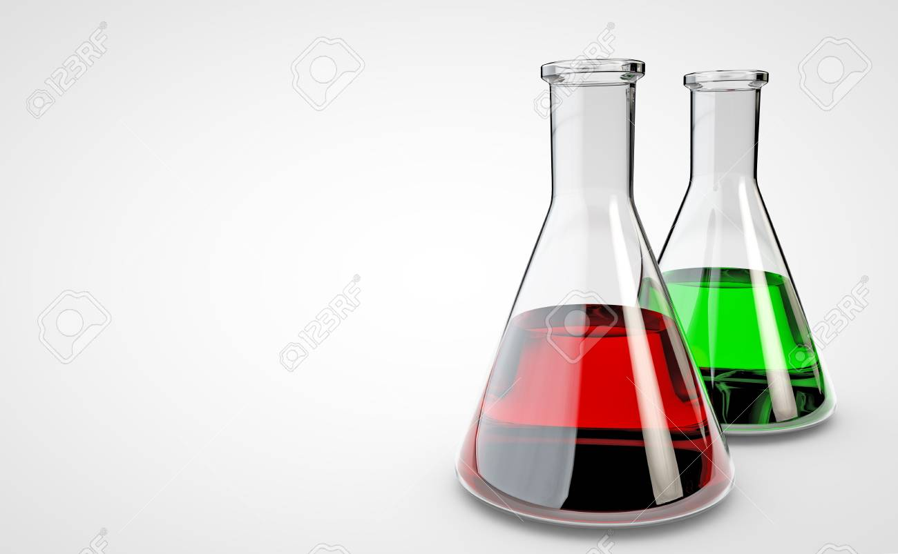 Chemical laboratory flask. 3D render - 93325161