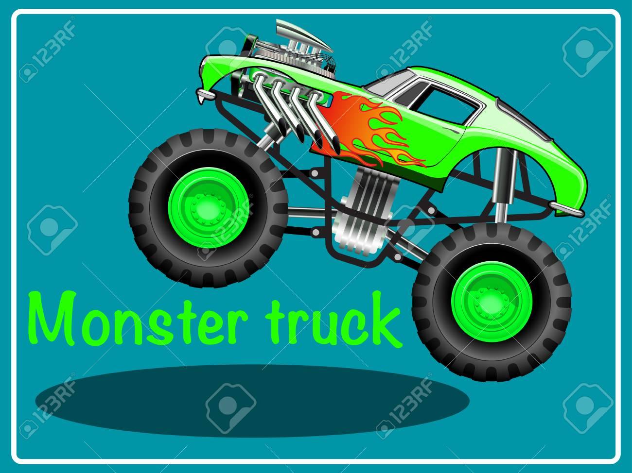 Cartoon Monster Truck Illustration Clip Art Royalty Free Cliparts Vectors And Stock Illustration Image 93146307