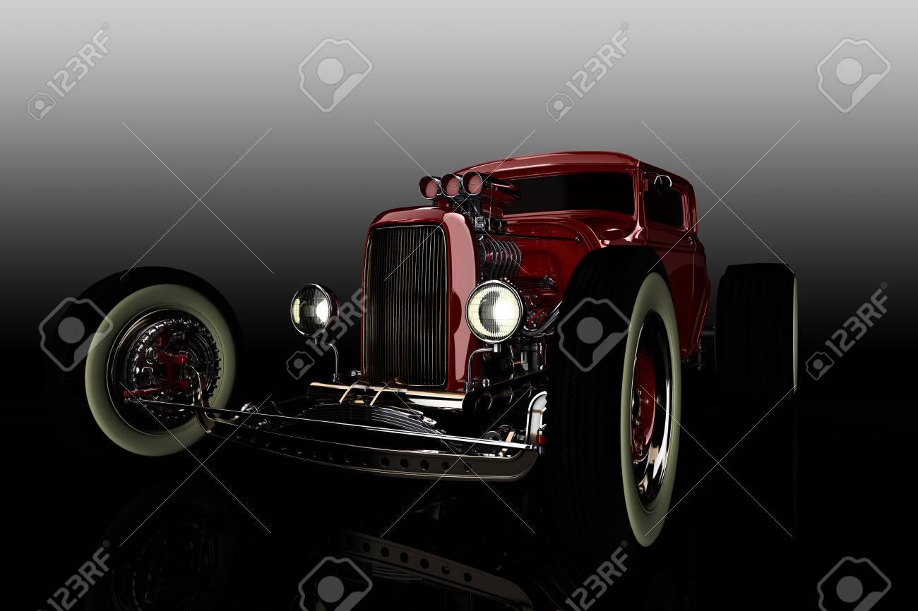 Hot Rod 3D render - 103614441