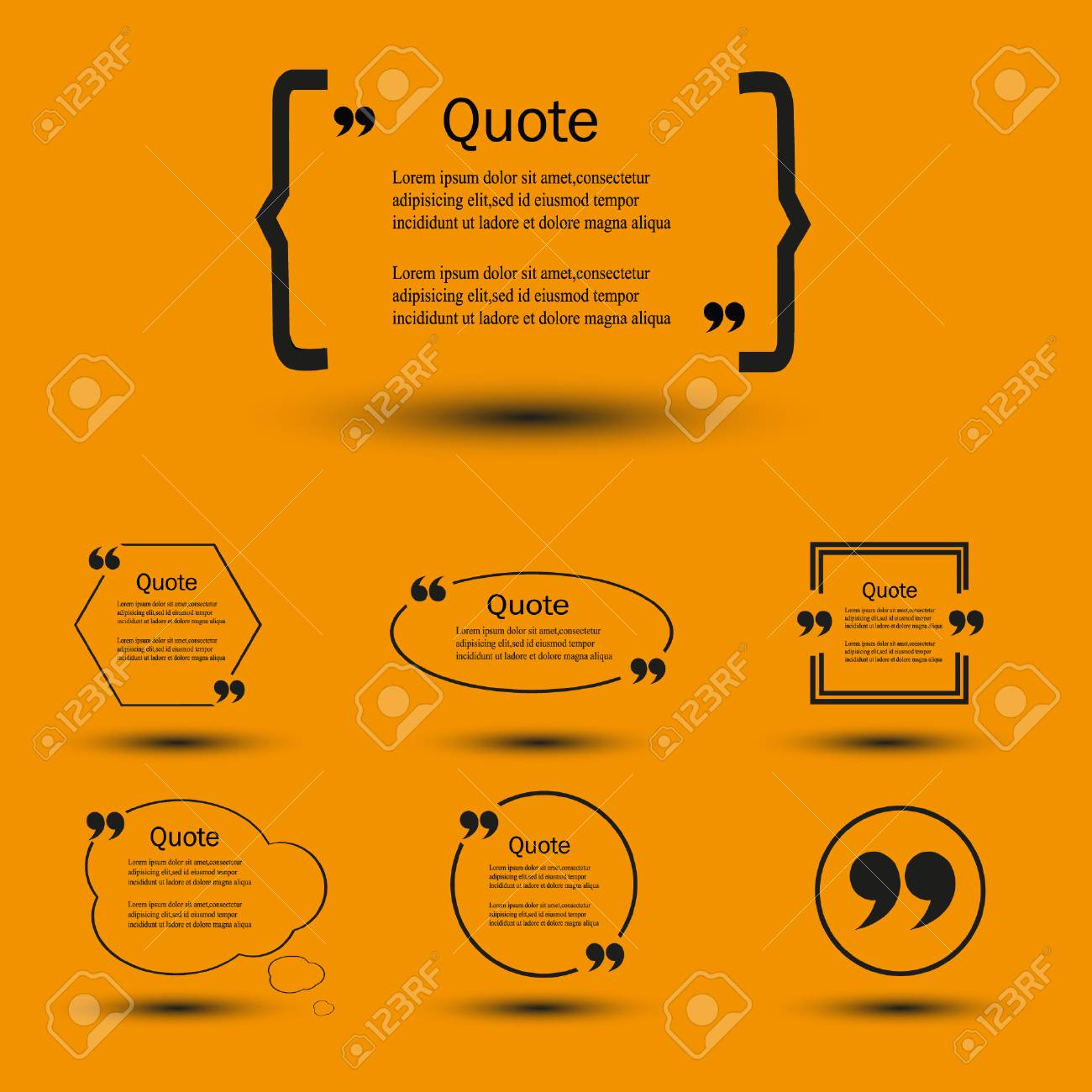 quote blank template bubble print information design quotes