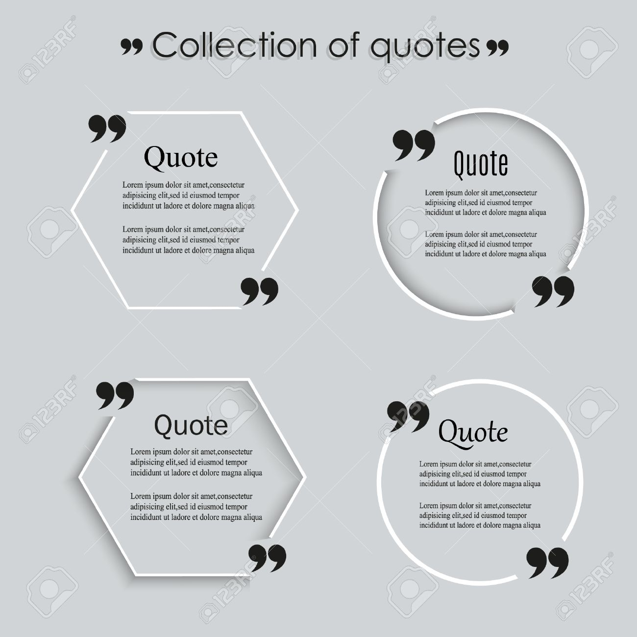 Quote Blank Template, Empty Quote Bubble Template With Print ...