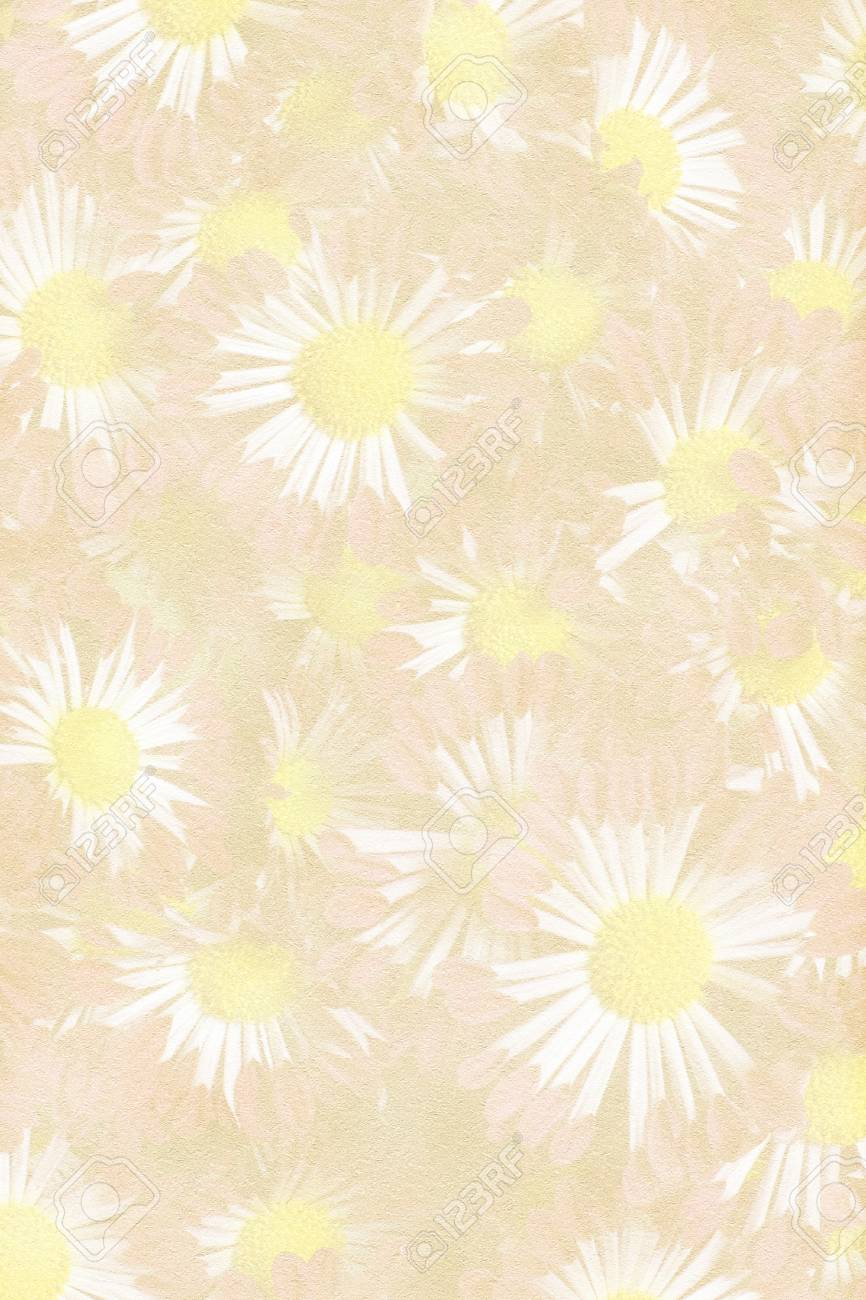 stock photo texture paper with embedded mum flowers