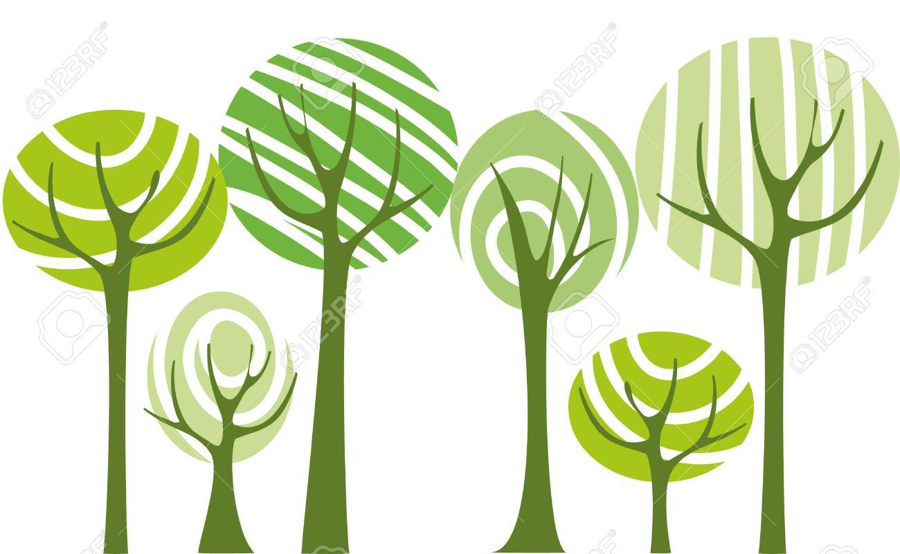 Vector green trees Stock Vector - 4317412