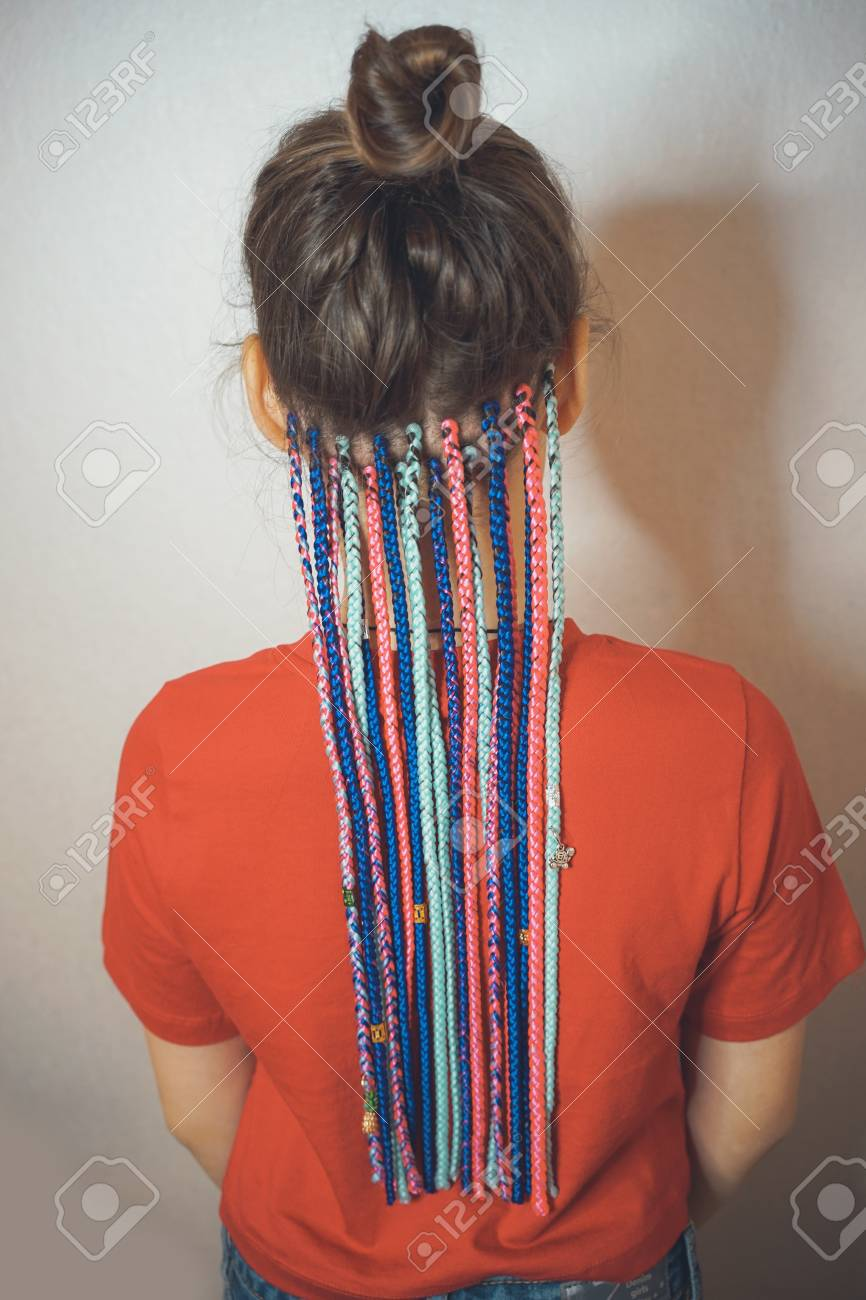 Pigtails On The Back Of The Head Braided Hair African Braids