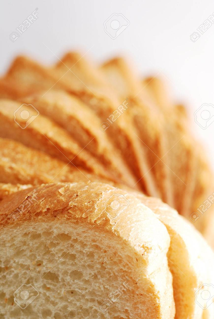 Bread slices tower perspective Stock Photo - 1726327