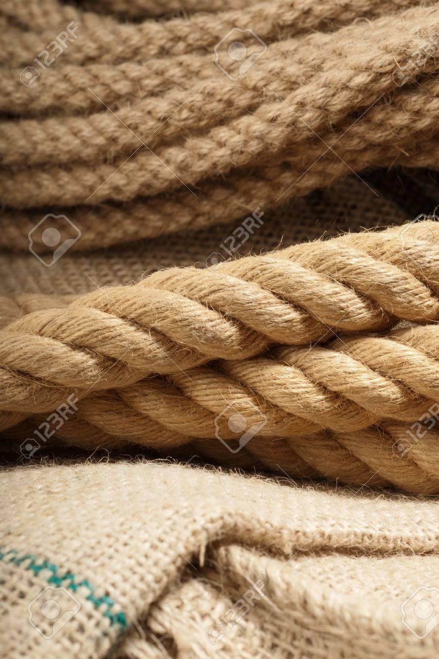 cuerda de yute natural macro detalle dispar sobre un pao foto de archivo 13809012 - Cuerda De Yute
