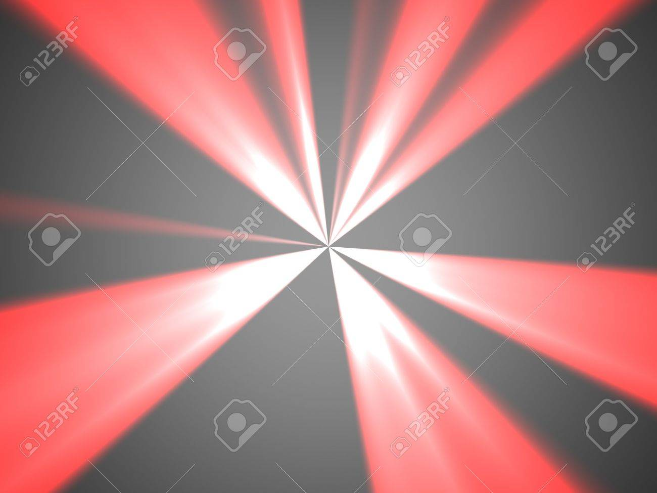 Red, white and gray abstract background with beams Stock Photo - 7554487