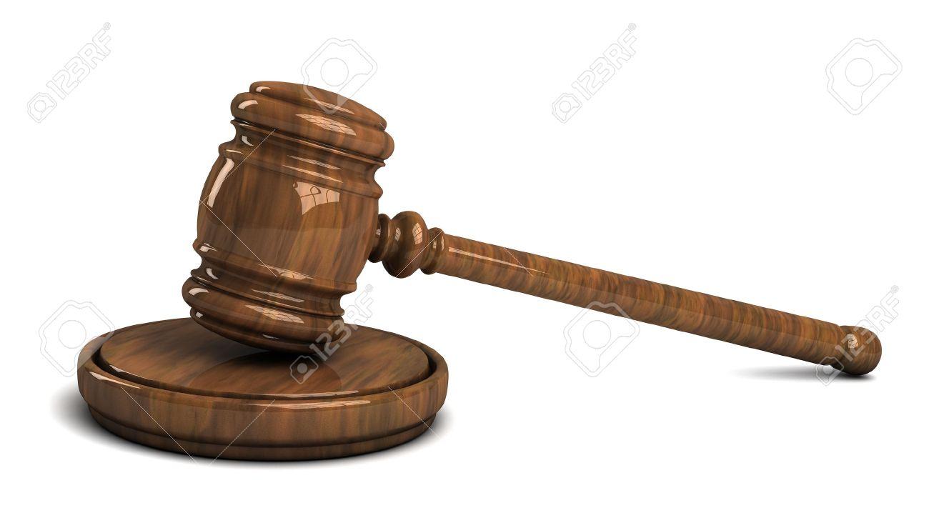 Judge's wooden gavel isolated on white background Stock Photo - 14660879