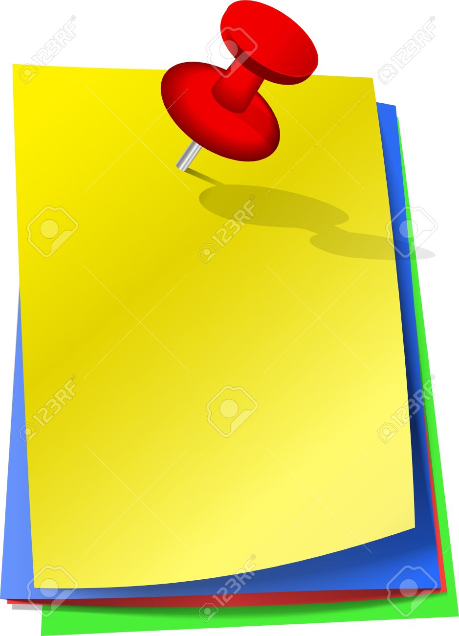 Free vector graphic sticky note note info paper free image on - Colorful Sticky Notes Attached With Red Pin Stock Vector 15450922