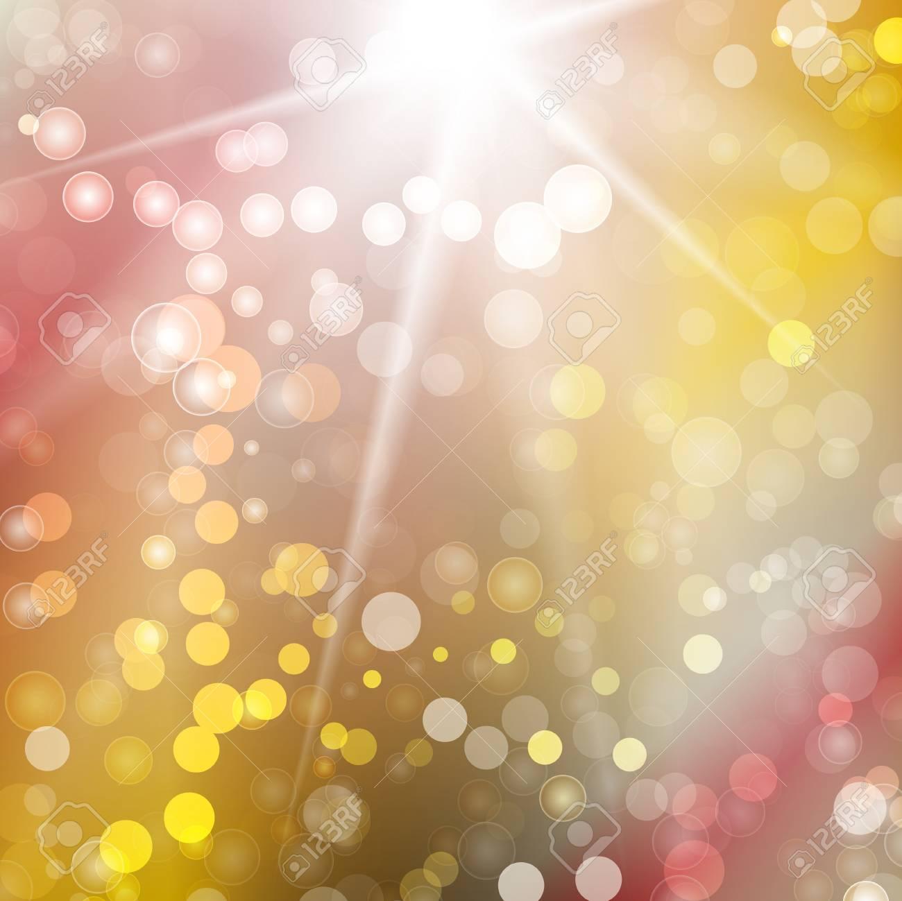 Festive bokeh lights abstract background. Vector illustration Stock Vector - 16675096
