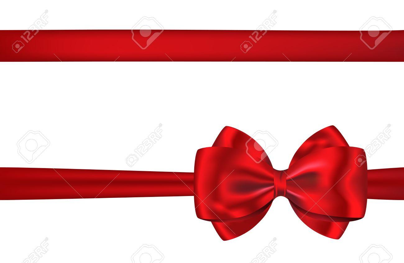 Fabuleux Cartellino Rosso Nastro Regalo E Fiocco Per Decorazioni Su Sfondo  BP16
