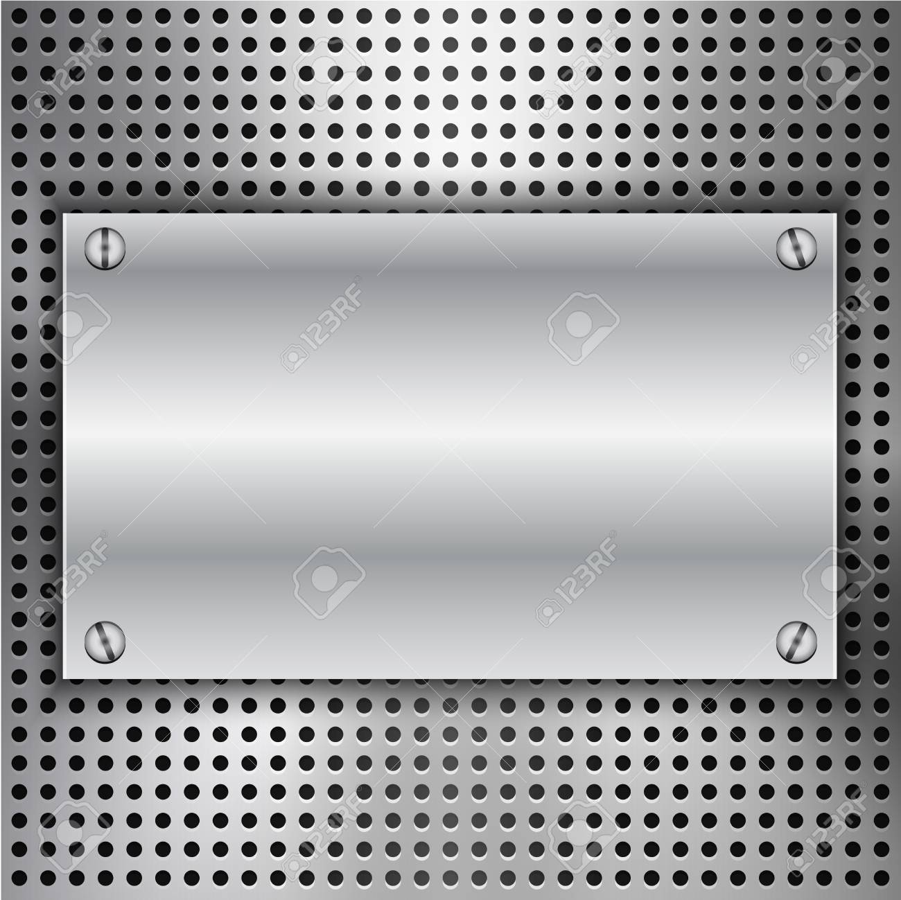 Abstract background with metal inset.illustration Stock Vector - 18514222