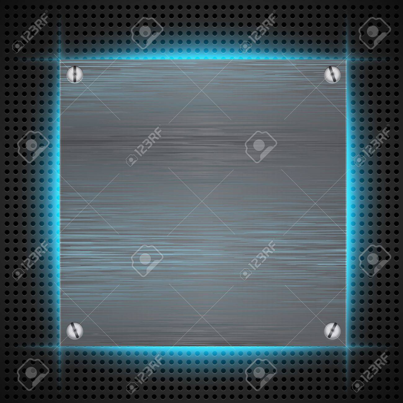 Abstract background with brushed metal inset. illustration Stock Vector - 18514227