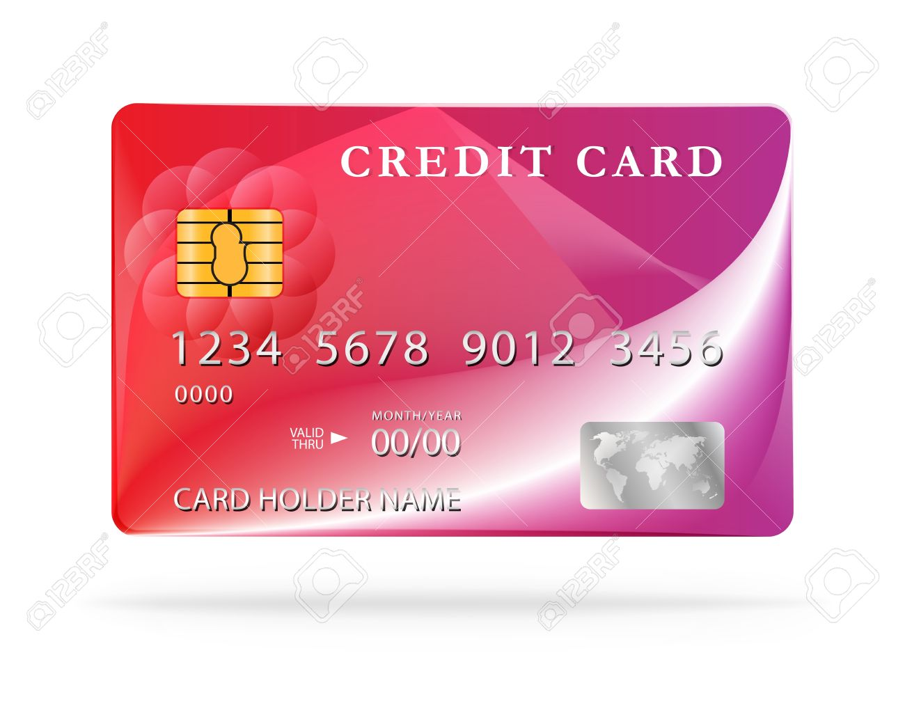 credit card design template stock vector 20215151