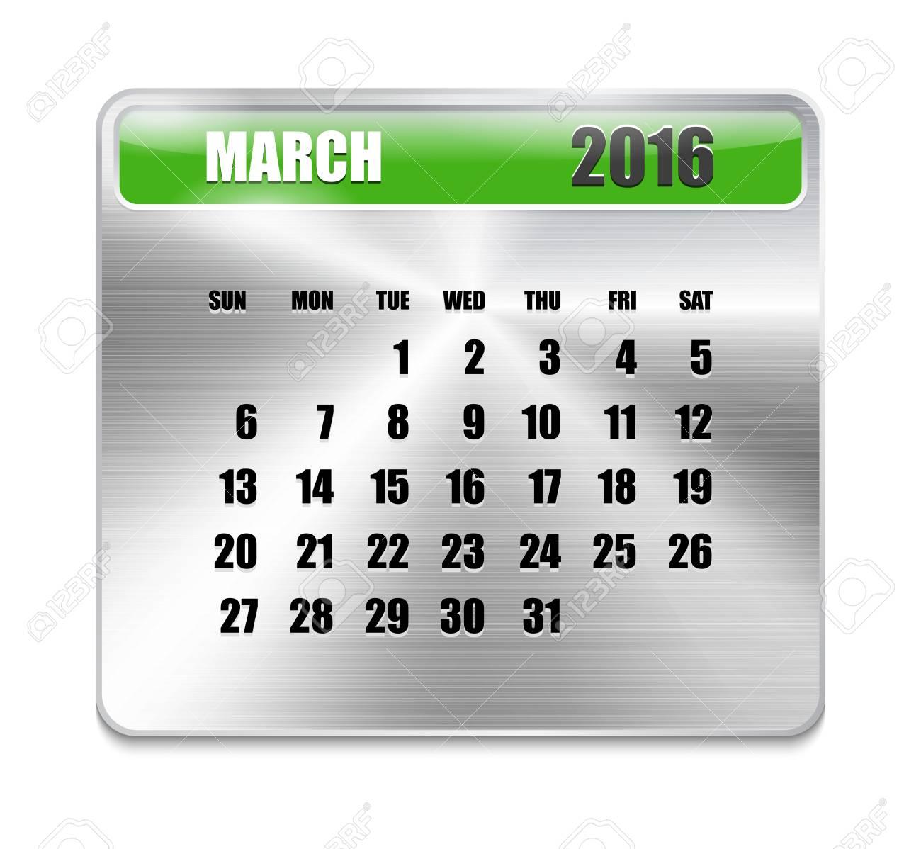 Calendario Per Sito Web.Calendario Mensile Per Marzo 2016 Su Lastra Metallica Vacanze Arancioni Puo Essere Utilizzato Per Calendari Aziendali E Per Ufficio Progettazione