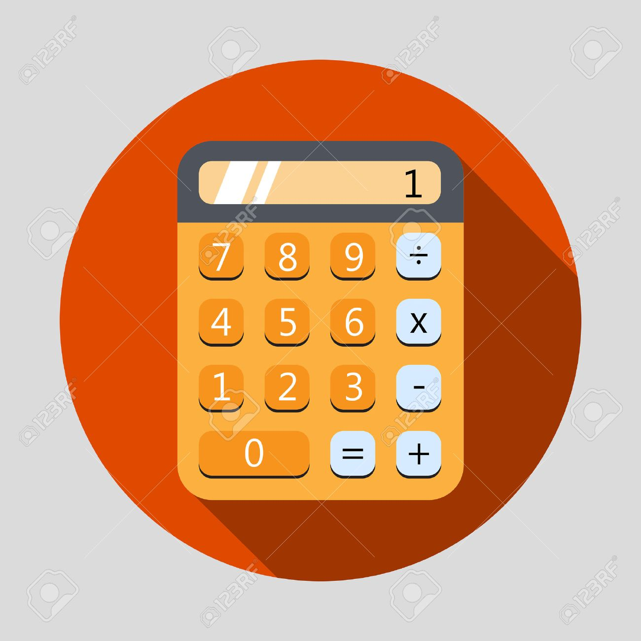 calculator stock illustrations cliparts and royalty calculator calculator flat design icon long shadow vector illustration
