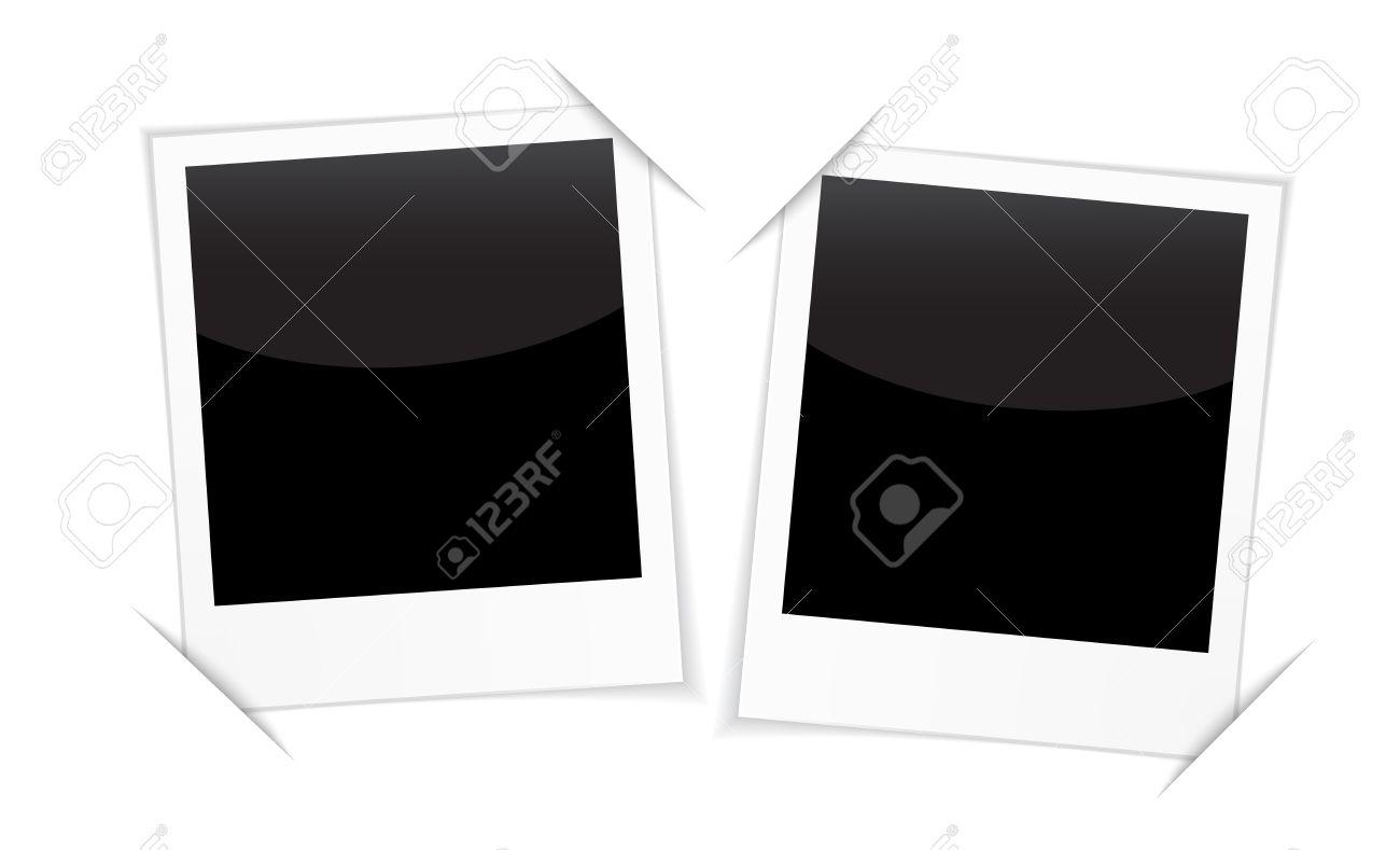 Retro 2 Bilderrahmen Isoliert Auf Weiß. Leere Bilderrahmen Für Auf ...