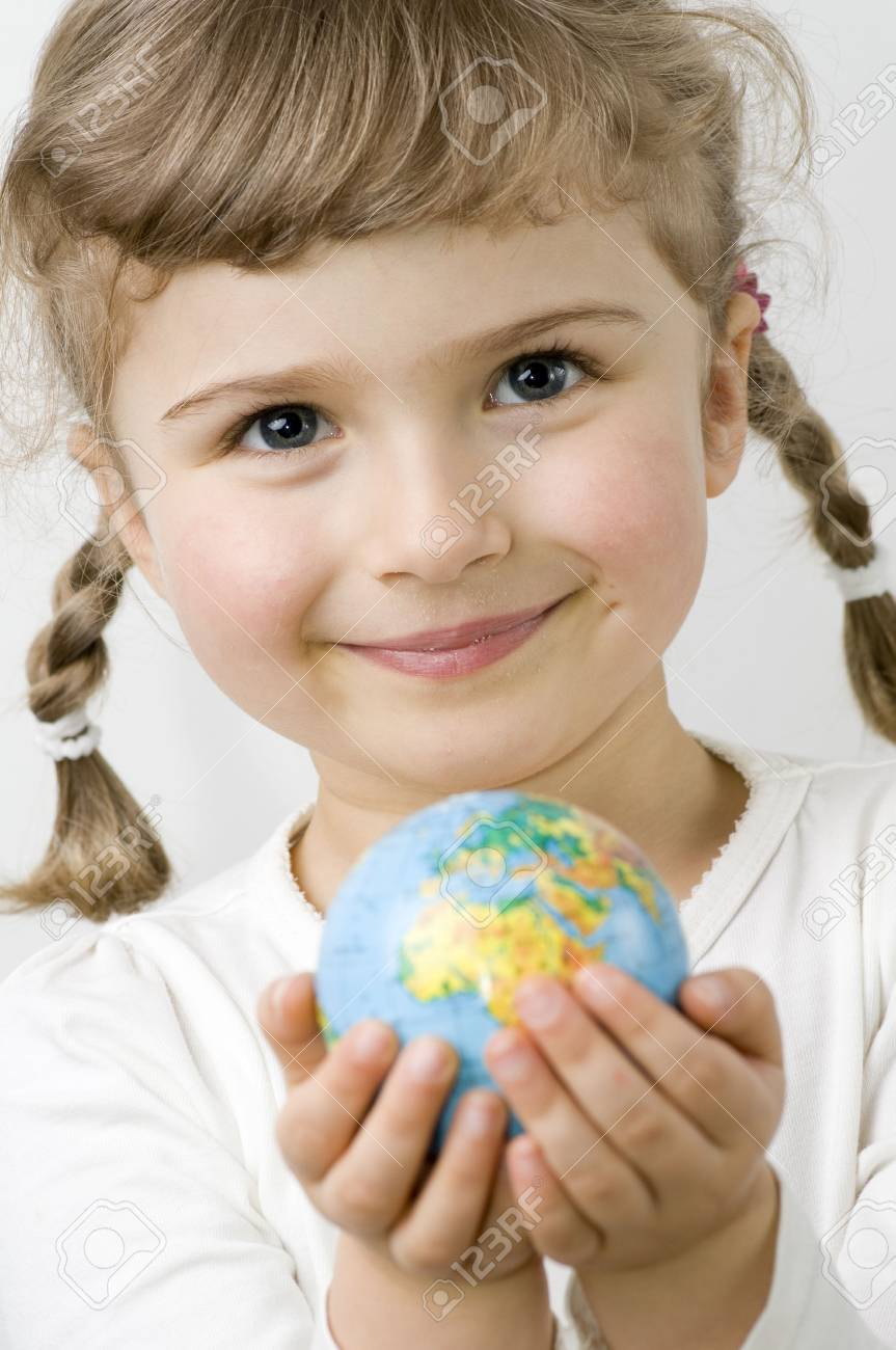 Globe on child hands Stock Photo - 4229997