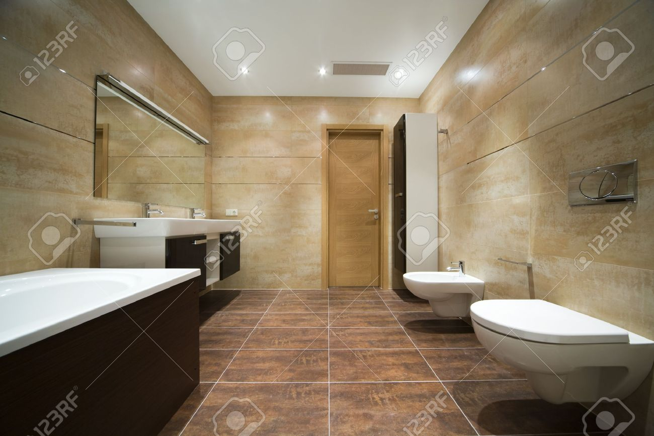 Designer Bathroom Stock Photo   4030931