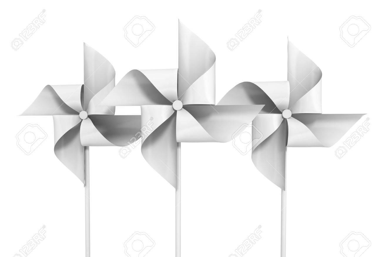 Papel De Ilustración En Juguete Molinillo Viento Aislado Blanco3d 1ulTF35KJc