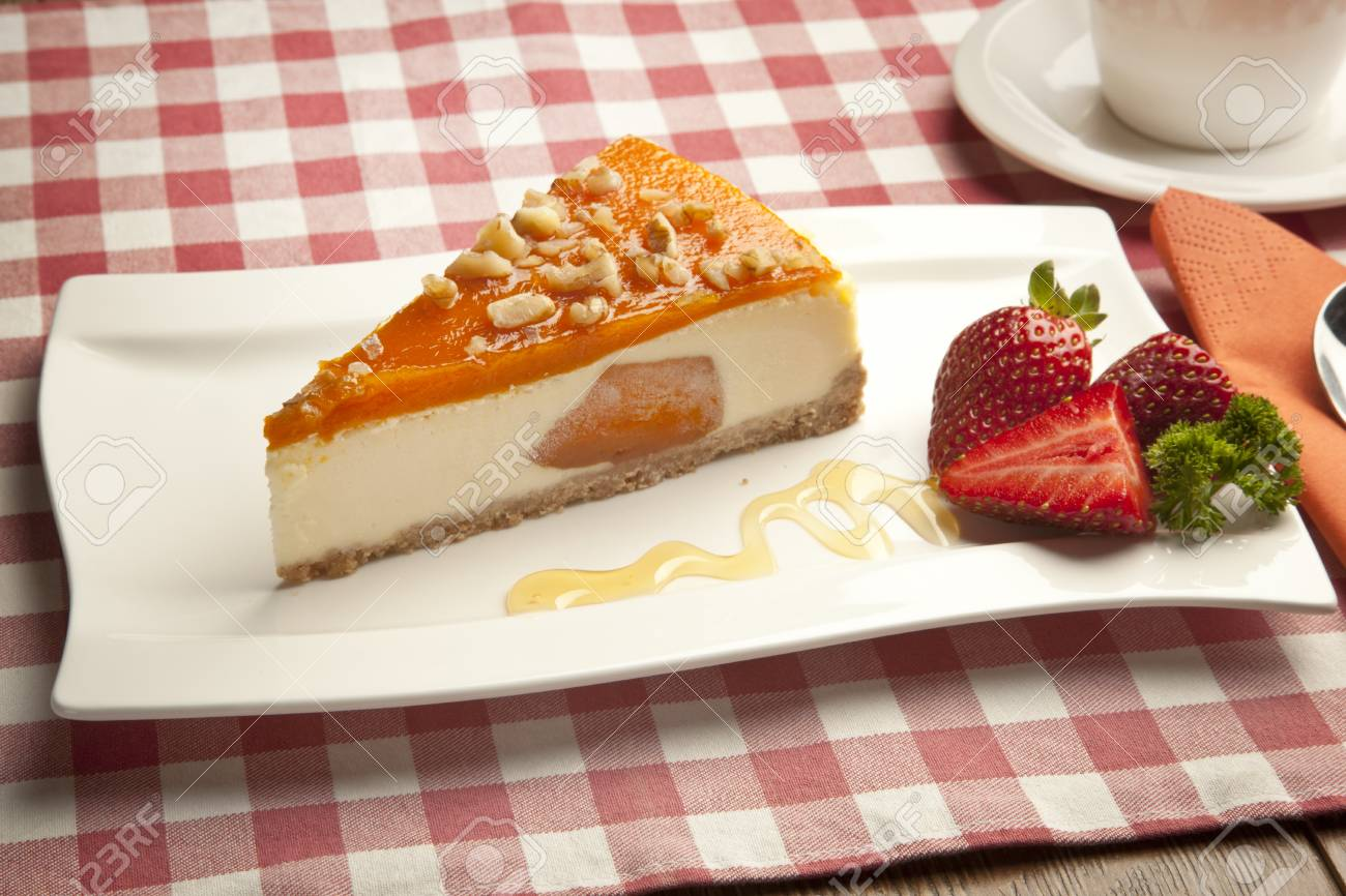 pumpkin cheesecake concept Stock Photo - 26405044