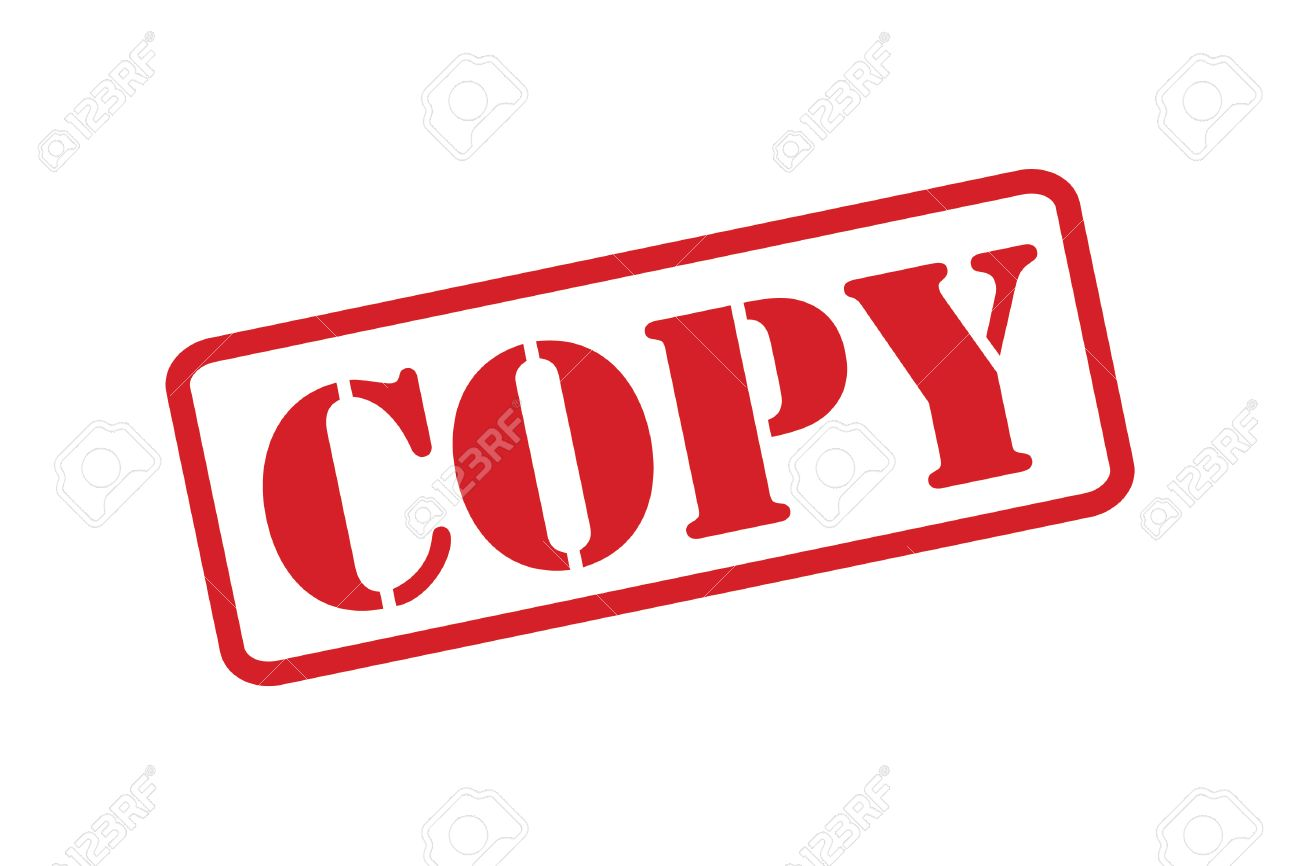 COPY Red Rubber Stamp Vector Over A White Background Stock
