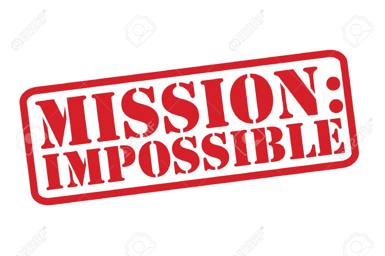 mission impossible rubber stamp over a white background royalty