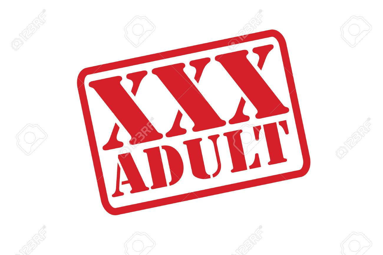 Adult Image Xxx xxx adult rubber stamp over a white background.