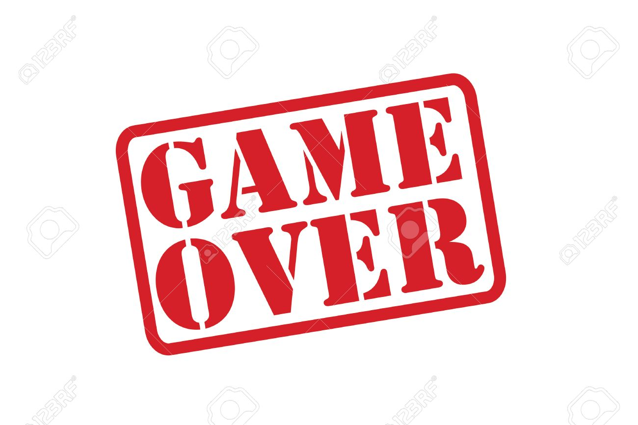 Game Over Red Rubber Stamp Over A White Background Royalty Free