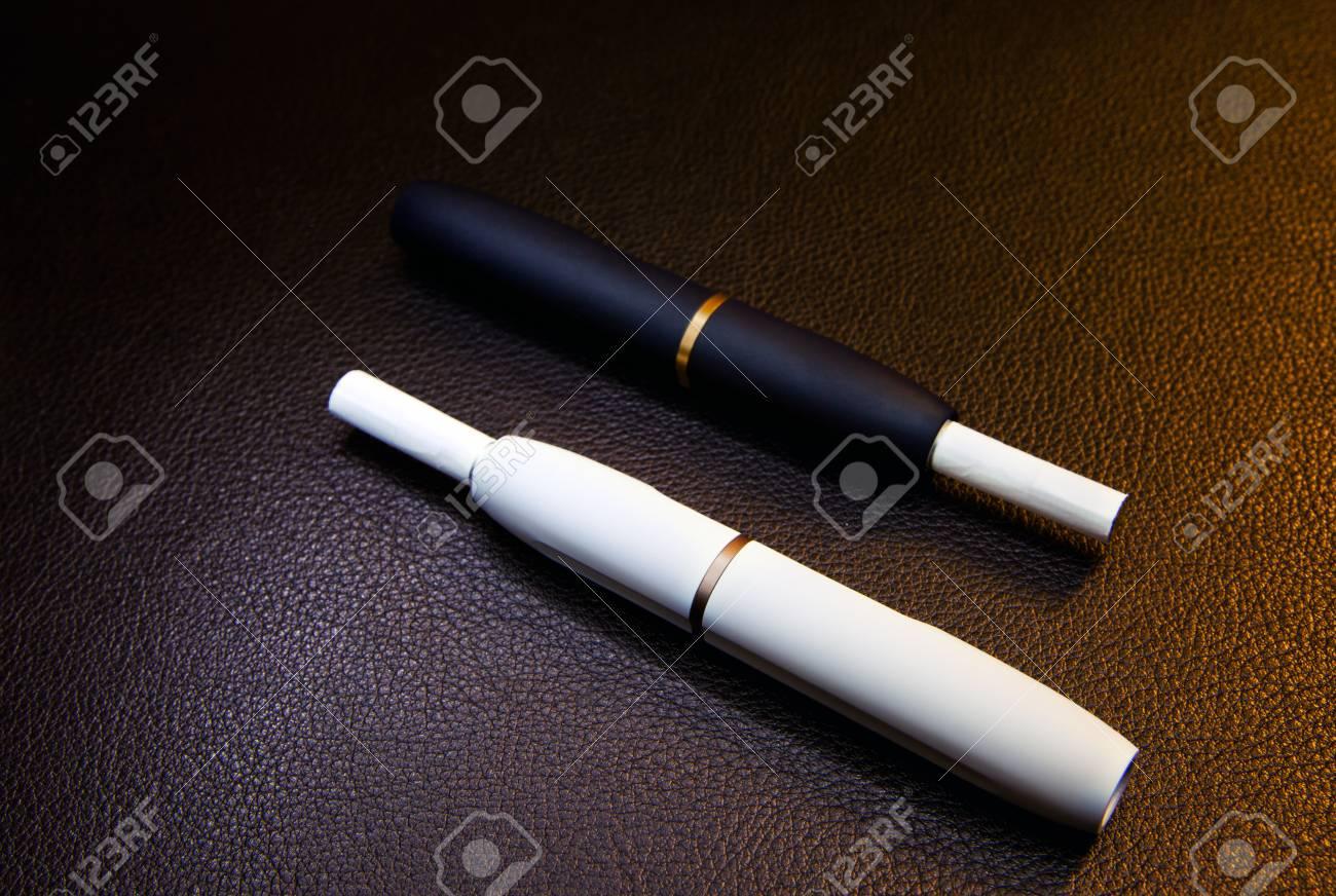 electronic smoke device leather background nobody