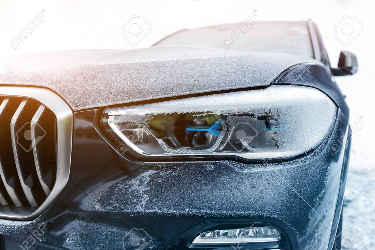 Close Up Details Of Luxury Suv Car Headlight Parked Outdoors Stock Photo Picture And Royalty Free Image Image 139671810
