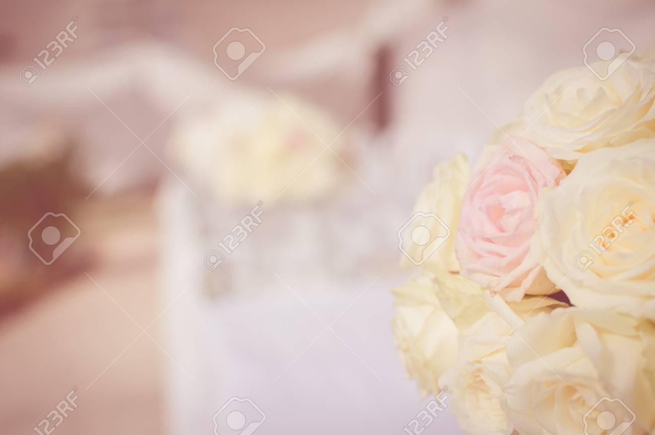 Abschluss Oben Auf Hochzeitsblumen Brautblumenstrauss Dekoration