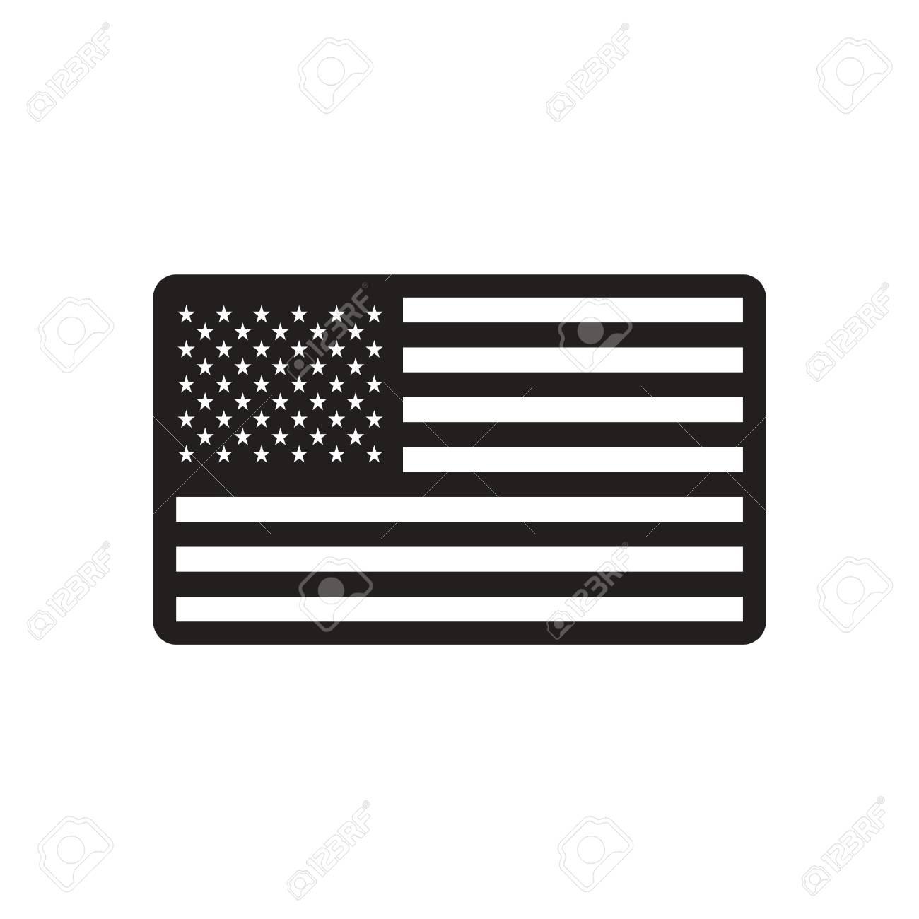 American Flag Black and White Images, Stock Photos & Vectors | Shutterstock